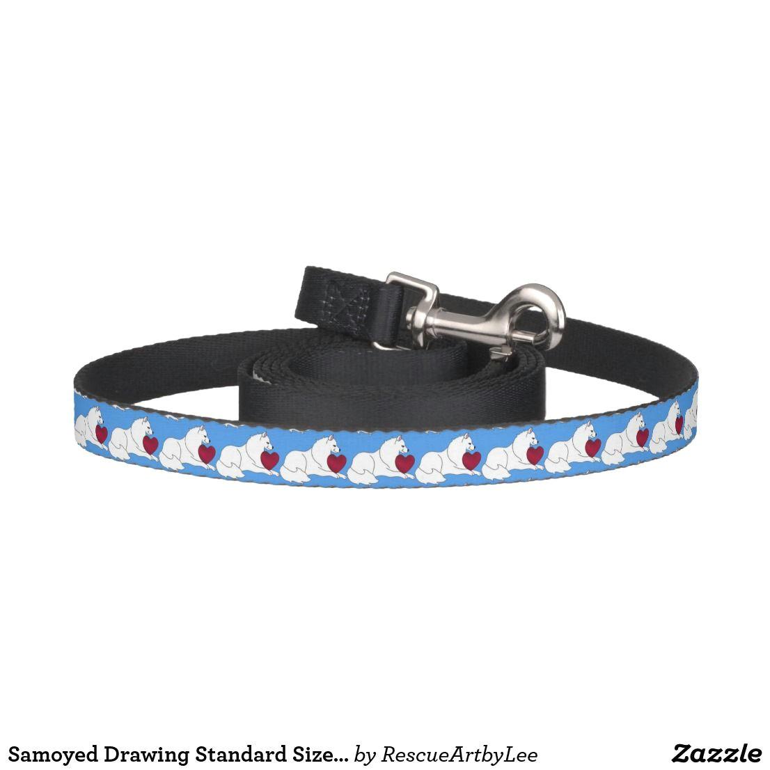 samoyed drawing standard size dog leash black pet leash