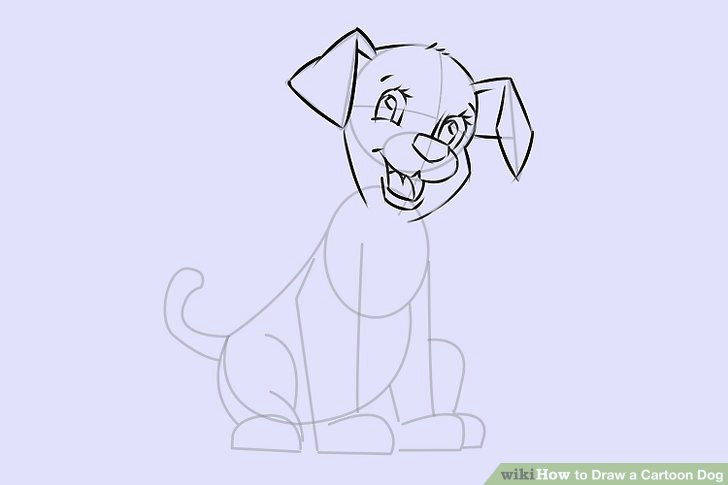 Drawing Of A Dog Standing 6 Easy Ways to Draw A Cartoon Dog with Pictures Wikihow