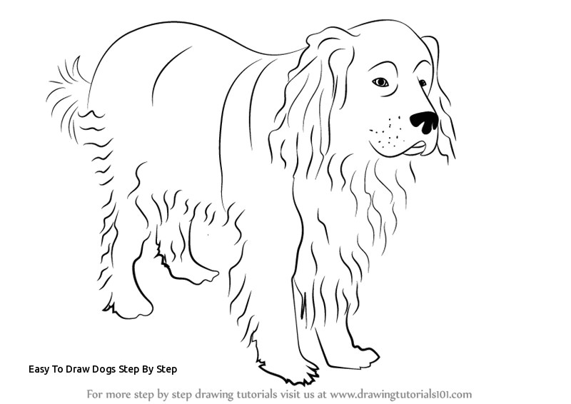 easy to draw dogs step by step learn how to draw a newfoundland dog dogs step