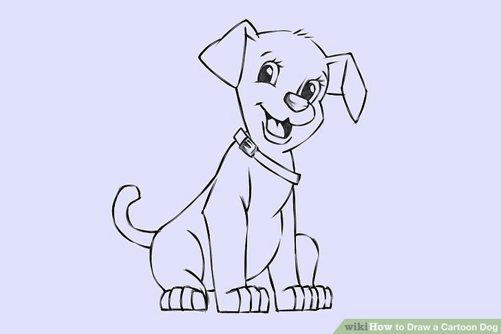 Drawing Of A Dog with A Bone 6 Easy Ways to Draw A Cartoon Dog with Pictures Wikihow