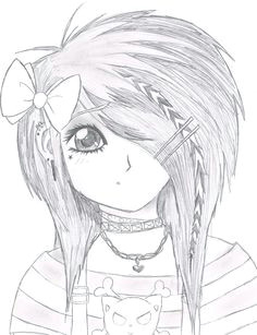 emo drawings emo scene gurl by kattify7764 on deviantart anime sketch art drawings