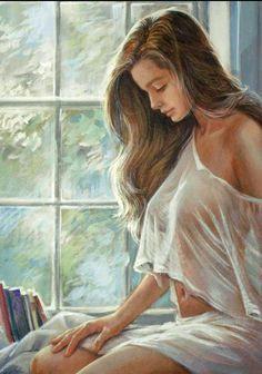 afbeelding niet weergegeven art girl painting drawing woman painting art drawings