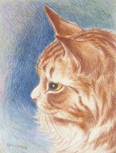 yellow eyed cat by louis wain yellow eyes pretty cats pretty kitty ginger