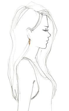 image result for sketch of a girl from behind cartoon girl image besuchen februar 2019