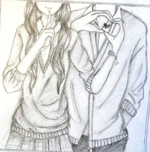drawing boy girl