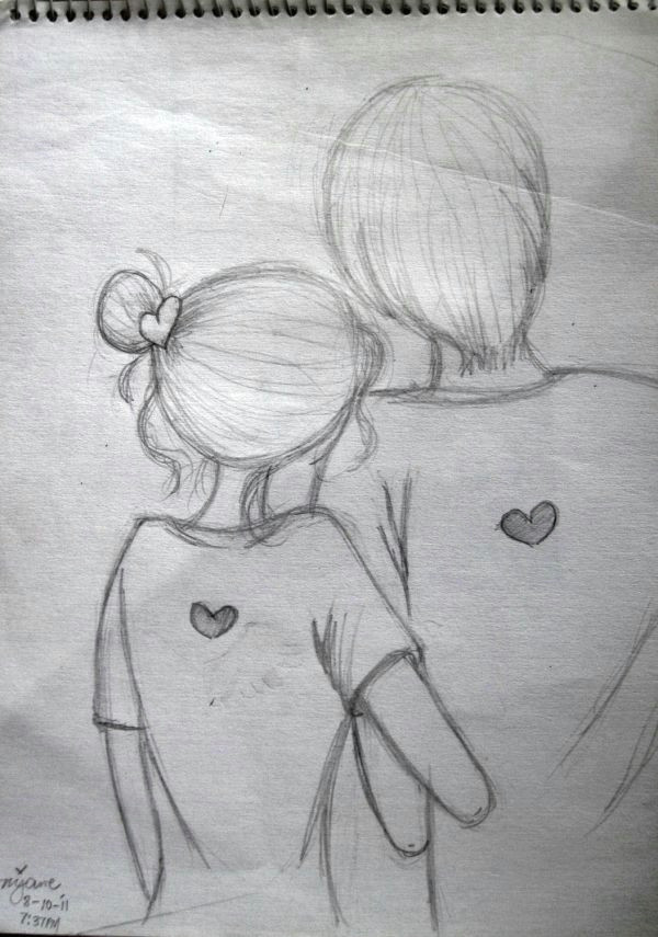 Drawing Of A Girl and Boy In Love Image Result for How to Draw A Sketch with Pencil Easily Drawing