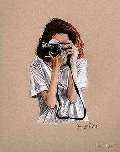 the photographer illusion kunst estilo anime cute drawings croquis art sketches