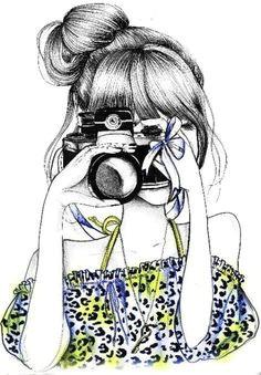girl and camera illustration