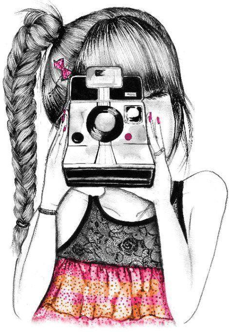 d camera art camera drawing polaroid camera camera illustration amazing drawings