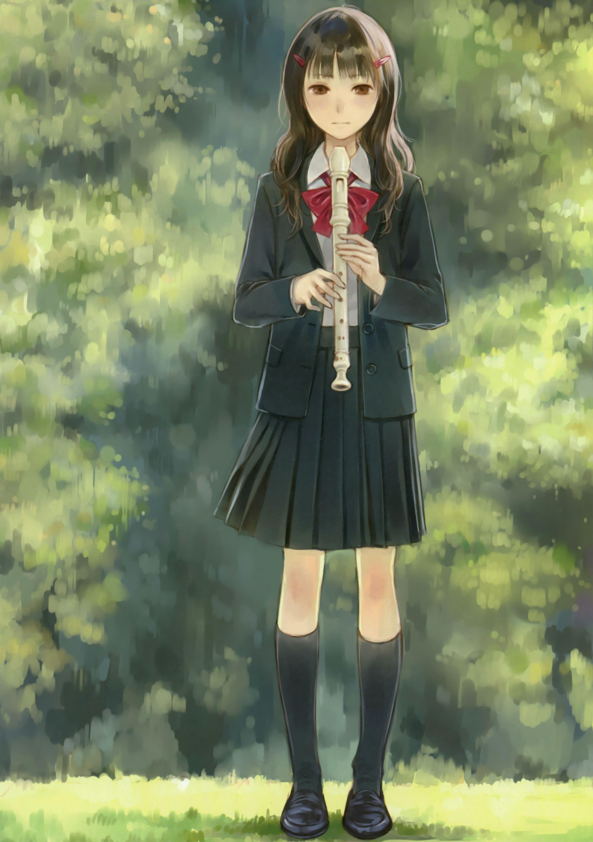 fantasy girl anime music anime art art school anime scenery illustration