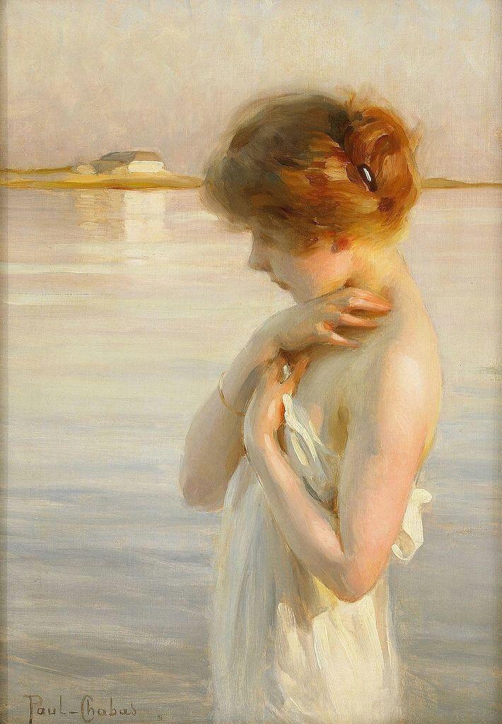 bathing girl paul a mile chabas