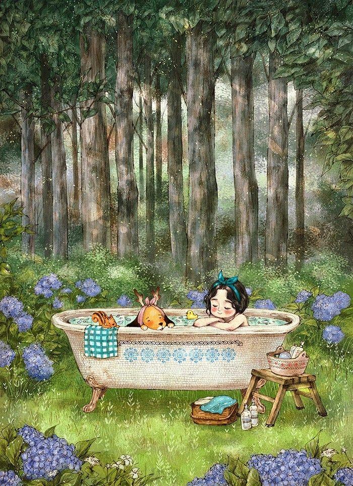 taking a bath in forest aeppol