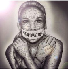 Drawing Of A Girl Being Bullied 9 Best Anti Bullying Drawing Idea Images Anti Bullying thoughts