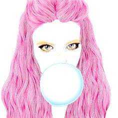 bubble gum illustration girl lingerie illustration illustration fashion fashion illustrations