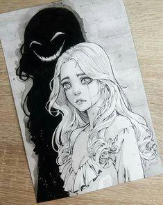 sad girl lovemesonaturally crying girl sketch girl crying drawing cry drawing color