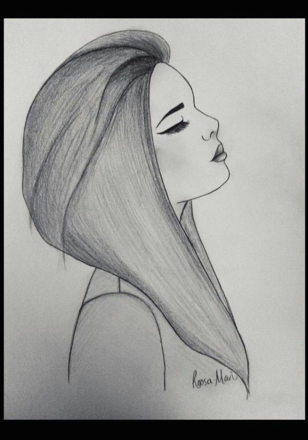 Drawing Of A Girl Depressed Sad Girl Drawing by Roosa Mari Credit Due to Website Inspireleads