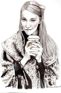 every girl needs starbucks to warm their hands up coffee art fashion sketches