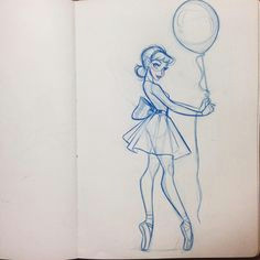 love thankful motivated art sketch ballerina pointe ballet balloon ribbon girl cute