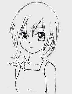 236x306 how to draw a simple anime girl step 6 a r t in 2018 anime sketch