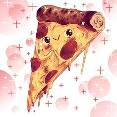 kyle fewell pizza 3 essensabbildungen lebensmittelkunst kollagen essen zeichnung ideen