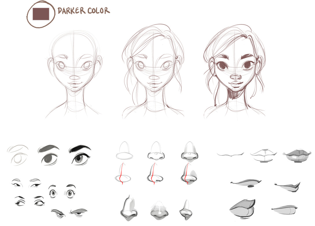 check out her tutorial on sketchbook blog how to draw female faces