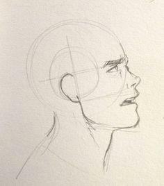 sideways head how to sideways draw head