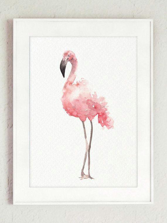 flamingo clipart set of 6 watercolour flamingo art prints baby girl pink nursery flamingos