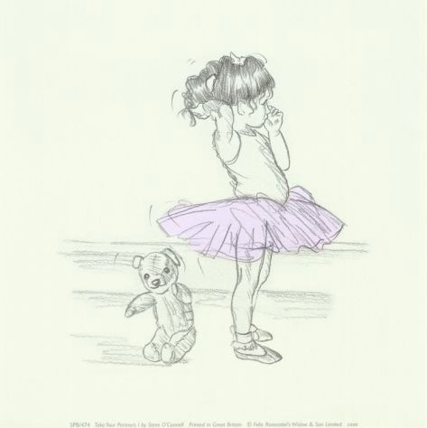 Drawing Of A Girl for Nursery Take Your Partners I Ballerina Ballet Drawings and Illustrations