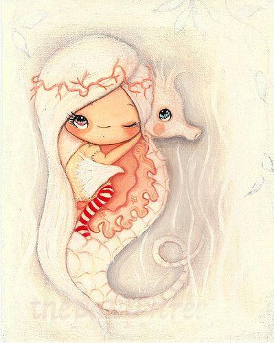 untitled by the poppy tree seahorse art seahorses seahorse drawing nursery art