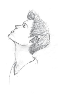 drawing side profile girl sketch inspiration pinterest drawings art and art drawings