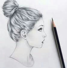Drawing Of A Girl From Side Side View Of A Girl Drawing References In 2019 Pinterest