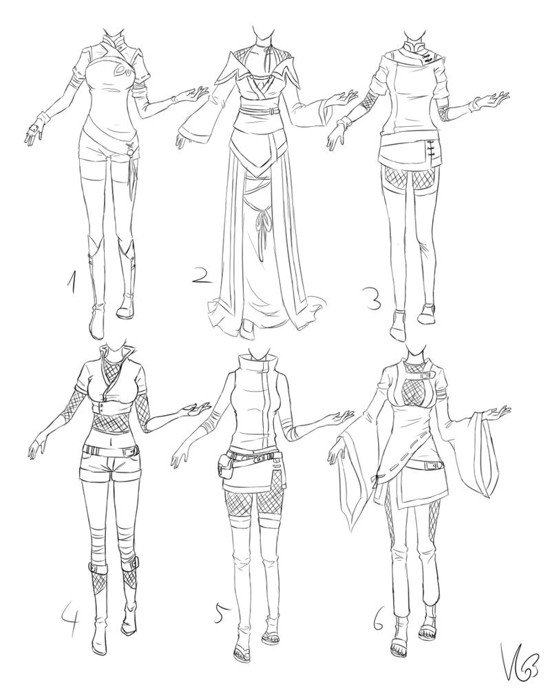 inspiration clothing manga art drawing anime girl woman ninja by kohane chan via deviantart