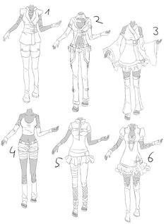 inspiration clothing manga art drawing anime women girl by khane chan on deviantart
