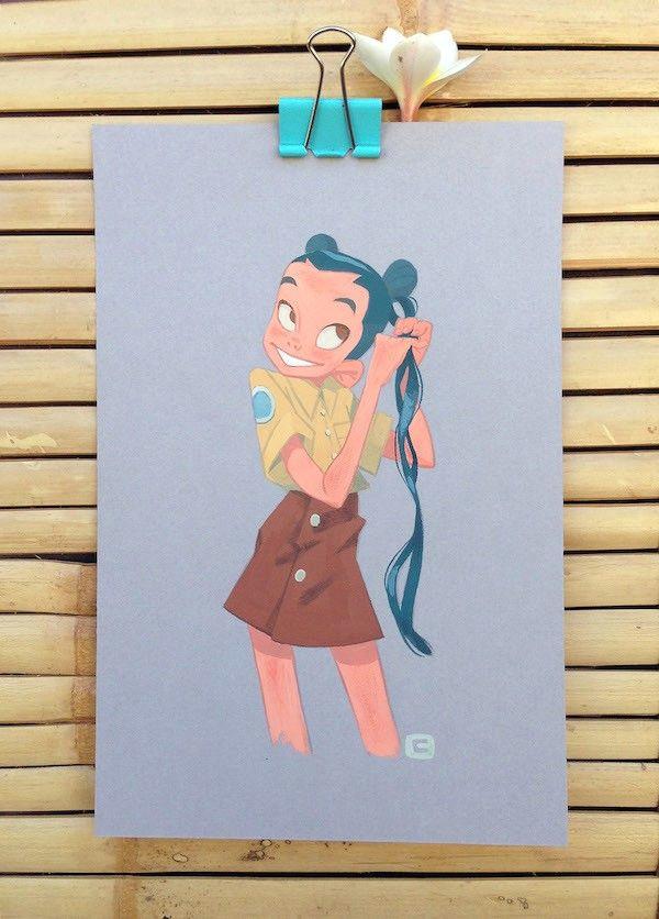 honk fu store school girl painting