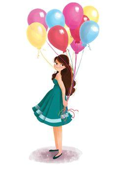 colour collective no 9 girl holding balloonsgreat