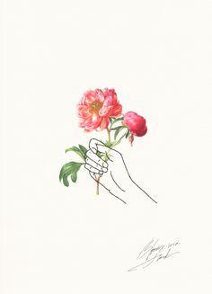 1000drawings photo line art flowers flower art cool art hand holding phone