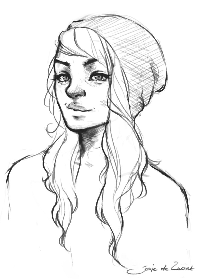 Drawing Of A Girl In A Beanie Beanie by Josjez Drawings In 2019 Drawings Sketches Drawing