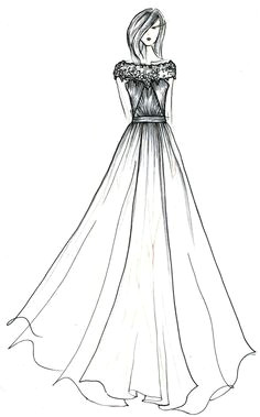 black label wedding gowns by anne barge a sketched preview gown sketch