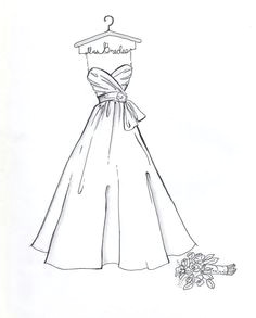 drawthedress on etsy does sketches of your wedding dress 50 wedding dress drawings wedding