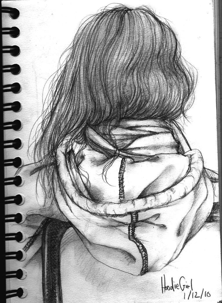 girl in hoodie drawing google search
