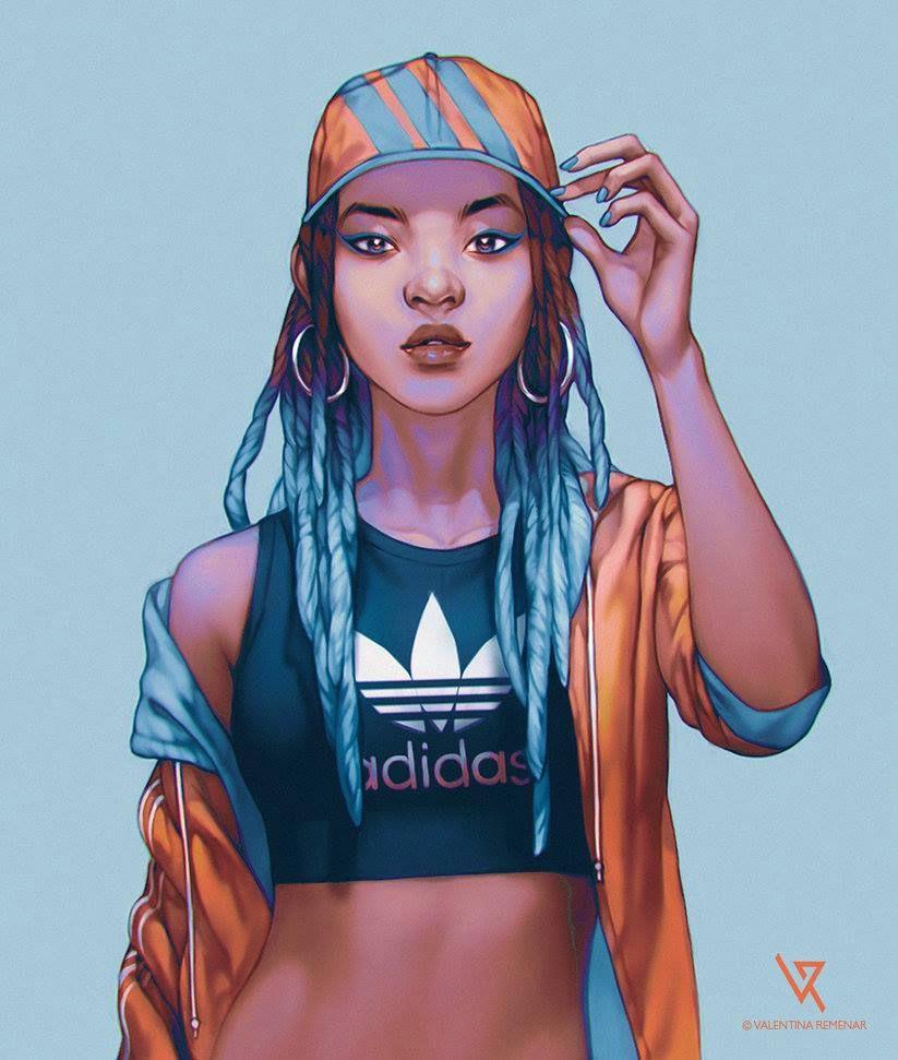 black women art black art black girl art female reference art reference