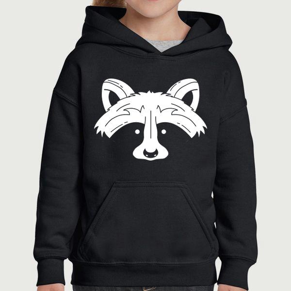 raccoon pullover hoodie quote slogan illustration personalised unisex tumblr