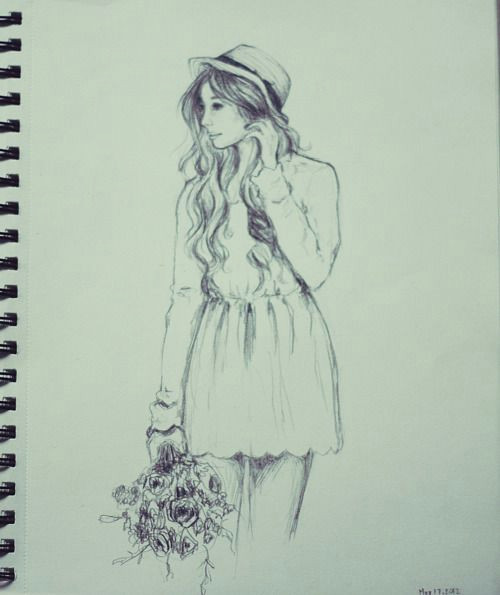 this would be cute with a colour background or colour coming from the flowers