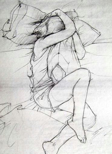 Drawing Of A Girl In Pain La Douleur Exquise French N the Exquisite Pain Of Wanting the