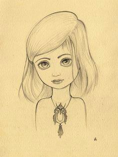 francie face sketch a girl sketch
