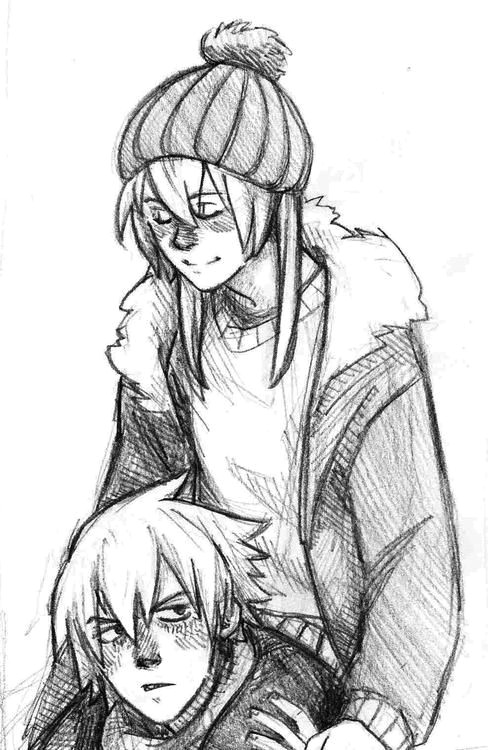sketch drawing couple girl boy cute looks like maka and soul