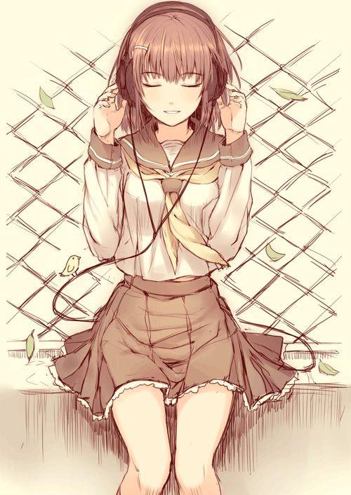 music is everything manga girl listening to music