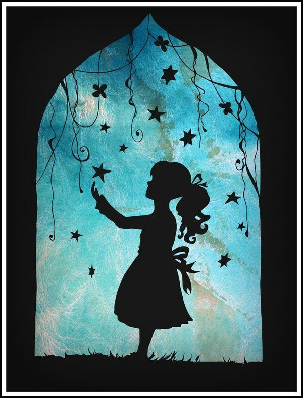 looking to the stars silhouette by deedeedee123 on deviantart