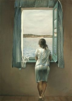 lovers woman at the window by salvador dali thanks to artmodelnyc for