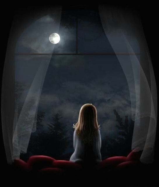 little girl looking out window at moon from my window little girl looking at moon picture by jade95 2010